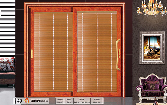 Type B: 120 two-rail series electric shutter hollow glass heavy type (lifting) push-and-pull door