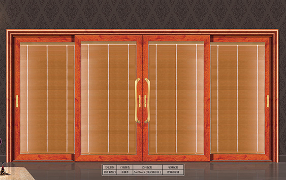 Type A: 190 three-rail series electric shutter hollow glass heavy type (lifting) push-and-pull door